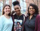 Governor's Medallion winners Gabrielle Hutchings, Brandi Porter and Jaylyn Richard.
