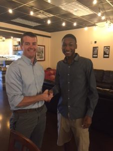 Adam Forshey, Treasurer, Hampton Roads ASHRAE Chapter, and Ramon Veal, 2017 scholarship recipient.