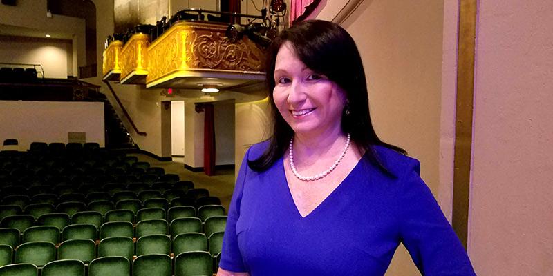 Professor Gabriela Toletti at the Roper Center.