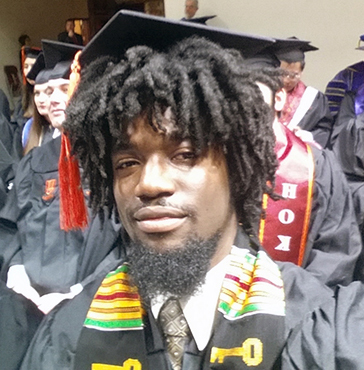 TCC alumnus Hezroy Hammil graduated from Virginia Tech in May 2017.