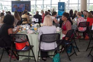 Guests gathered to celebrate the Women's Center's dedication to student success.