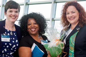 Keynote speaker Tracy Keller (right) with Laura Soulsby and Ivory Warren (middle)