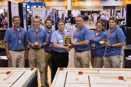 STEM Club students receive first place award