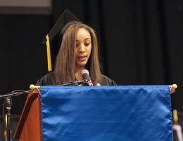 Student speaker Catara Dillard