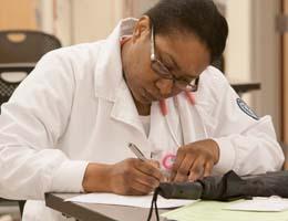 Nursing student LaKeshia Eley