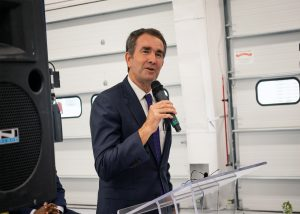 Gov. Ralph Northam at the Priority Technical Training Center in Chesapeake.