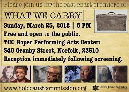 Flyer for premier of What We Carry film