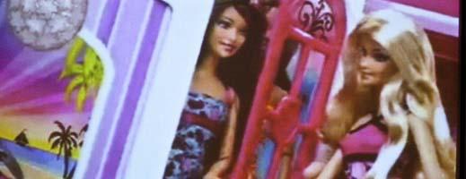Two Barbie dolls
