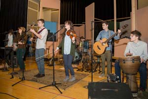 The Hunts provided entertainment for the Winter Festival.