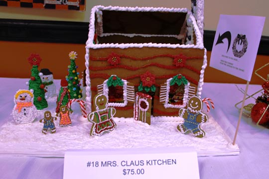 Mrs. Claus Kitchen gingerbread house