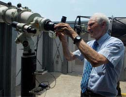 Wright regularly uses TCC's observatory for daytime and nighttime viewings of the sky.
