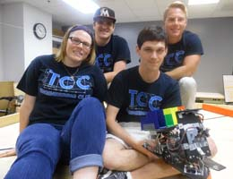 TCC Engineering Club students (back row) Andrew Denbow, Brenden Wilber and (front row) Staci Muir and Brandon Simon.