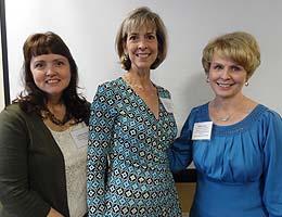 Health Informatics Summit panelists Dr. P. Marlene Capps, Natalie Kaszubowski and Debbie Condrey.