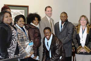 Students with Del. Leftwich