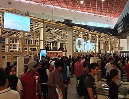 Scene from the Chile booth at the Feria Internacional del Libro de Guadalajara (FIL).