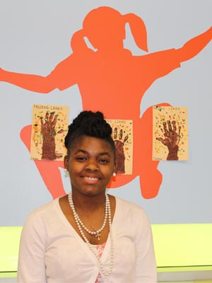 Morgan Washington at the Childhood Development Center on the Portsmouth Campus