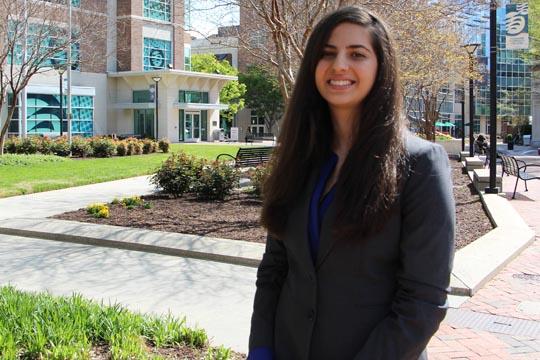 Student speaker Nadine Naser