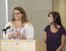 Returning scholars Katie Lange and Kat Nako share their stories with new scholars.
