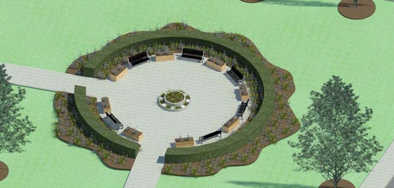 Students Memorial Garden rendering