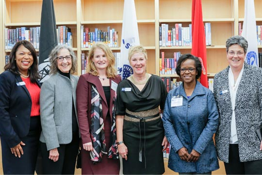 From left, Felicia Blow, Therese Hughes, Vanessa Christie, Edna Baehre-Kolovani, Ingrid McGowan and Jeanne Natali