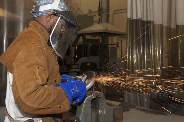 Grinding is also part of the process of welding