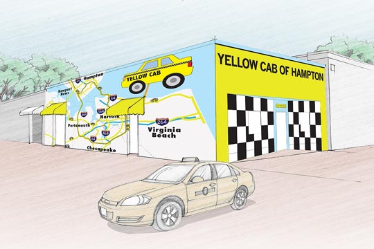 Megan Hodges' winning entry in the Yellow Cab design contest