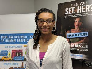 Courtney Pierce is a member of the Hampton Roads Human Trafficking Task Force.