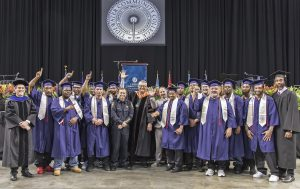 President Greg DeCinque with the first group from the Priority Technical Training Center to earn career studies certificates in Automotive Chassis Systems.