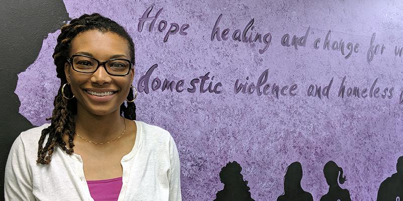 Courtney Pierce at Samaritan House
