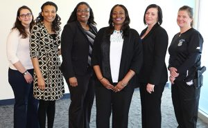 TCC's hosted a human trafficking panel with Adriana Mirarchi, Homeland Security Investigations; Courtney Pierce, Samaritan House; Ebony Velazquez, Attorney General's office of human trafficking; Shorntail Goodrich, TCC alumna; Krista Fulton, Norfolk Commonwealth Attorney's office; and Rebecca Stone, Norfolk Police Department.
