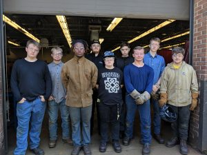 Welding graduates for the morning session are Arlin McCourt, Timothy Davis, Tony Highter, Bryce Rivers, Jason Walters, Jonathon Kasperbauer, Jacob Priest, Lucas Brown and Ryan Yonka.