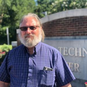 Professor Gregg Tennefoss at the Virginia Beach Campus.