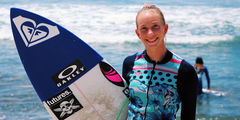 Pro surfer Rachel Wilson, a TCC student.