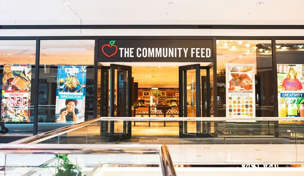 The Community Feed at TCC entrance.