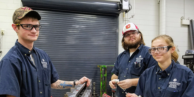 TCC students in TCC's Diesel Technology program