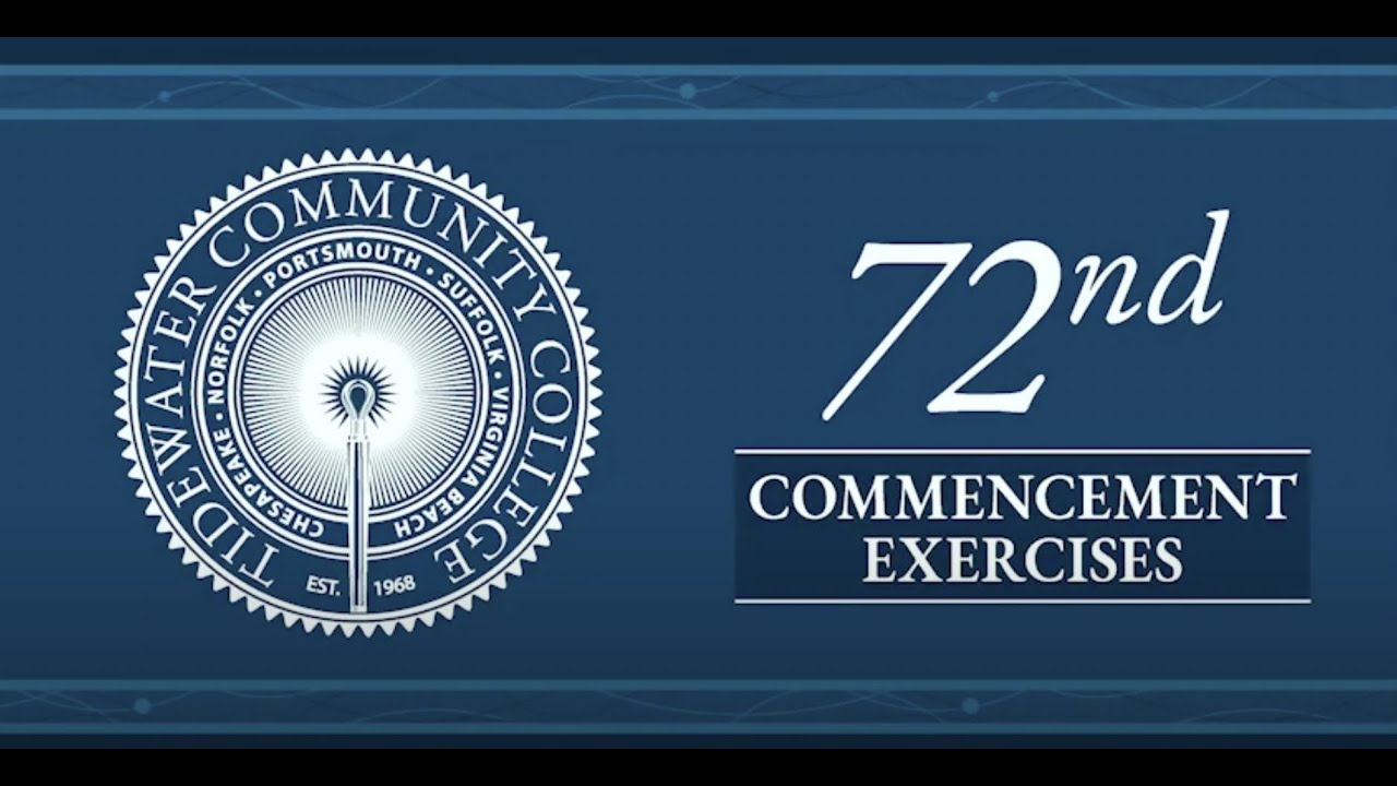 Sign with words saying 72nd Commencement Exercises.