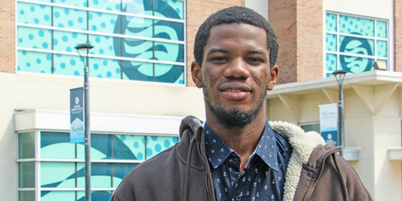 Emmanuel Abuah at TCC's Norfolk Campus.