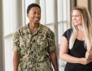 A veterans students and military dependent on TCC's Portsmouth Campus.