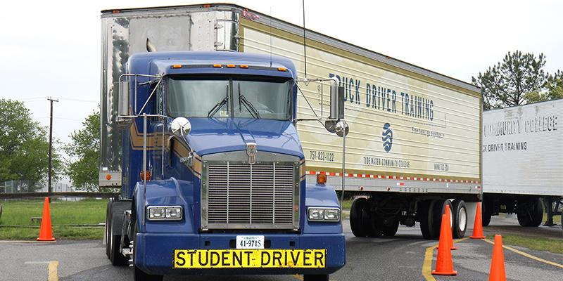 TCC has a fleet of trucks to train drivers.