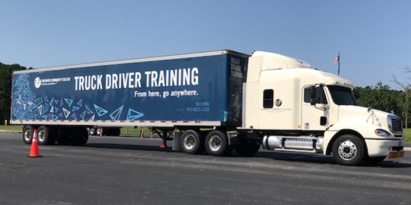 TCC truck at the Workforce Solutions site in Suffolk.
