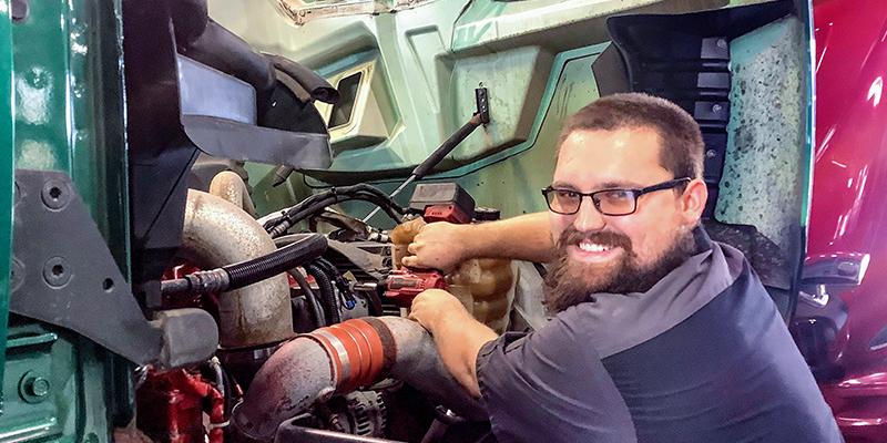 Tyler Bray at Norfolk Truck Center