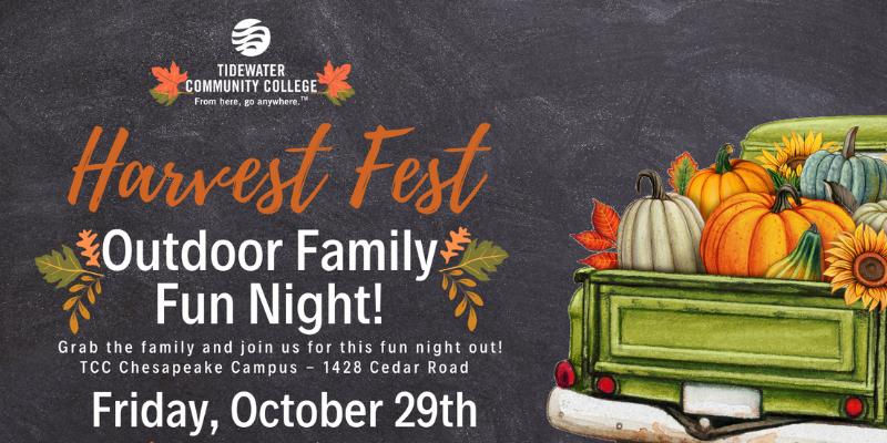 Poster about TCC's Harvest Fest on Oct. 29.