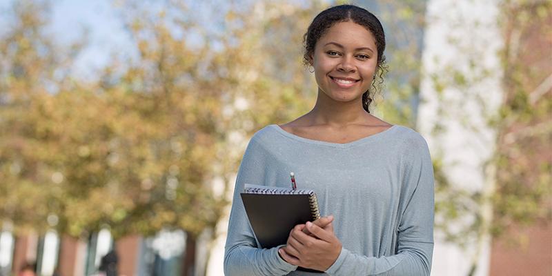 Student on TCC's Virginia Beach Campus